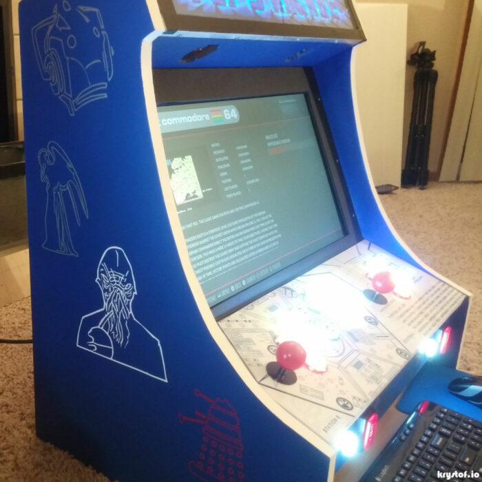 The Tardis Themed Arcade Comes Together